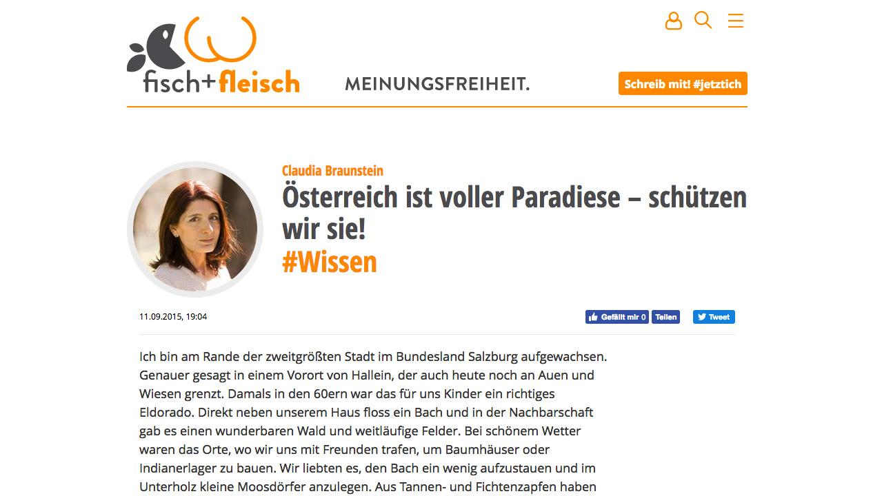Bloggerin Claudia Braunstein für das Blühende Österreich (REWE)